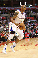 12/09/12 Los Angeles, CA: Los Angeles Clippers small forward Caron Butler #5 during an NBA game between the Los Angeles Clippers and the Toronto Raptors played at Staples Center. The Clippers defeated the Raptors 102-83.
