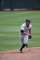 ***Temporary Unedited Reference File***Northwest Arkansas Naturals shortstop Ramon Torres (2) during a game against the Springfield Cardinals on April 27, 2016 at Hammons Field in Springfield, Missouri.  Springfield defeated Northwest Arkansas 8-1.  (Mike Janes/Four Seam Images)