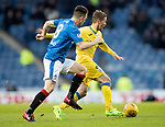 Rangers v St Johnstone…16.12.17…  Ibrox…  SPFL<br />Chris Millar is tracked by Ryan Jack<br />Picture by Graeme Hart. <br />Copyright Perthshire Picture Agency<br />Tel: 01738 623350  Mobile: 07990 594431
