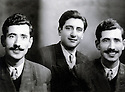 France 1950. Abdul Rahman Ghassemlou, in the middle,  and his brother Ahmed in Paris<br />