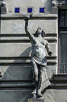 Jugendstilhaus in der Alberta Iela 2 in Riga, Lettland, Europa, Unesco-Weltkulturerbe