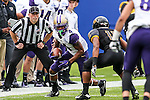 Washington Huskies defensive back Austin Joyner (4) in action during the Zaxby's Heart of Dallas Bowl game between the Washington Huskies and the Southern Miss Golden Eagles at the Cotton Bowl Stadium in Dallas, Texas.