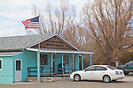 Small town post offices, Mountain City, Nevada, zipcode 89831, winter street scene, small town West,