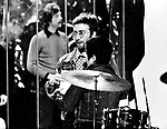 John Lennon 1970 with Yoko Ono on Top Of The Pops.© Chris Walter.