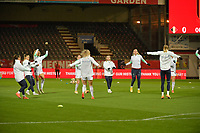 Swiss players  pictured during the warming up of a female soccer game between the national teams of Belgium , called the Red Flames and Switzerland on the 8 th and last matchday in group H for the qualification for the Womens EURO 2022 in England , on Tuesday 1 th of December 2020  in Leuven , Belgium . PHOTO SPORTPIX.BE   SPP   DIRK VUYLSTEKE