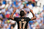 Nani of Valencia CF celebrates with teammates during their La Liga match between Club Deportivo Leganes and Valencia CF at the Butarque Municipal Stadium on 25 September 2016 in Madrid, Spain. Photo by Diego Gonzalez Souto / Power Sport Images