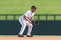 Salt River Rafters third baseman Jake Noll (17), of the Washington Nationals organization, during an Arizona Fall League game against the Surprise Saguaros at Salt River Fields at Talking Stick on October 23, 2018 in Scottsdale, Arizona. Salt River defeated Surprise 7-5 . (Zachary Lucy/Four Seam Images)