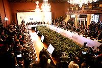 BOGOTÁ - COLOMBIA, 24-02-2019: Asistentes de los diferentes países, durante la 11ª reunión de Ministros de Relaciones Exteriores del Grupo de Lima en Bogotá, Colombia. El grupo de 14 miembros de Lima, que incluye a la mayoría de los paises latinoamericanos. Es la primera reunión en la que Venezuela participará como miembro del grupo de Lima, representado por el presidente interino Juan Guaido. / Assistants from different countries, during the 11th Lima Group Foreign Ministers meeting in Bogota, Colombia. The 14-member Lima Group, which includes most Latin American. It is first meeting in which Venezuela will participate as a member of the Lima group, represented by the Acting President Juan Guaido. Photo: VizzorImage / Luis Ramírez / Staff.