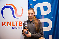 Hilversum, Netherlands, December 3, 2017, Winter Youth Circuit Masters, 12,14,and 16, years, prizegiving 16 years ,<br /> 6 th place girls: Vanja Gudeij <br /> Photo: Tennisimages/Henk Koster