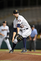 Salt River Rafters pitcher Mark Appel (35) during an Arizona Fall League game against the Scottsdale Scorpions on October 8, 2014 at Scottsdale Stadium in Scottsdale, Arizona.  Salt River defeated Scottsdale 6-3.  (Mike Janes/Four Seam Images)