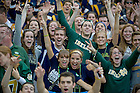 Sept. 1, 2012; Notre Dame students and fans cheer during first quarter against Navy of the 2012 Emerald Isle Classic at Aviva Stadium in Dublin, Ireland. Photo by Barbara Johnston/University of Notre Dame