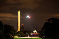 Marine One prepares to land on the South Lawn of the White House in Washington D.C., U.S., on Wednesday, June 24, 2020 after United States President Donald J. Trump travelled to Arizona.  Credit: Stefani Reynolds / CNP/AdMedia