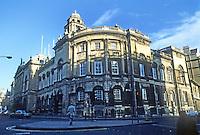 "Bath: Guildhall. Architect Thomas Baldwin, 1776. Walter Ison in ""The Georgian Buildings of Bath"" says young Baldwin was influenced by Robert Adam."