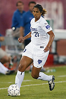Steffi Jones of the Washington Freedom. The Freedom defeated the NY Power 4-2 on Saturday August 10, at Mitchel Athletic Complex, Uniondale, NY.