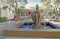 Yoda statue fountain at Letterman Digital Arts Center, Presidio, San Francisco California