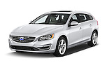 2015 Volvo V60 T5 Drive-E FWD Door wagon Angular Front stock photos of front three quarter view
