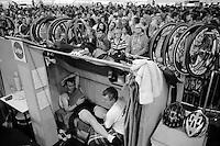 Alex Rasmussen (DEN) having break in his bunk<br /> <br /> Gent 6 - day 4