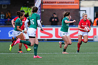 Hannah Jones of Wales  in action during the Women's Six Nations match between Wales and Ireland at Cardiff Arms Park, Cardiff, Wales, UK. Sunday 17 March 2019