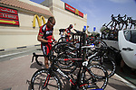BMC Racing Team rider Thor Hushovd (NOR) before the start of the 3rd Stage of the 2012 Tour of Qatar running 146.5km from Dukhan Souq, Dukhan to Al Gharafa, Qatar. 7th February 2012.<br /> (Photo Eoin Clarke/Newsfile)