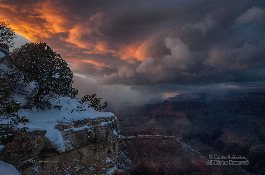 Winter Storm over South Rim, Grand Canyon