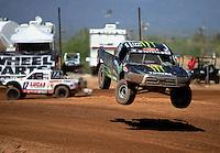 Apr 15, 2011; Surprise, AZ USA; LOORRS driver Marty Hart (15) during round 3 and 4 at Speedworld Off Road Park. Mandatory Credit: Mark J. Rebilas-.