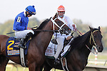 September 22, 2012. Questing, Irad Ortiz Jr. up, in post parade for the Cotillion. My Miss Aurelia, ridden by Corey Nakatani and trained by Steve Asmussen, wins the 43rd running of the Grade 1 Cotillion Stakes at Parx Racing in Bensalem, Pennsylvania. (Joan Fairman Kanes/Eclipse Sportswire)