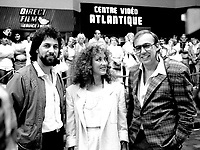 August 21, 1985 File Photo - Actors join Jean Beaudin, filmmaker on a promotion activity for his movie LE MATOU, based on the eponymous book by Yves Beauchemin.