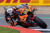 27th August 2021; Silverstone Circuit, Silverstone, Northamptonshire, England; MotoGP British Grand Prix, Practice Day; Red Bull KTM Factory Racing rider Brad Binder on his KTM RC16