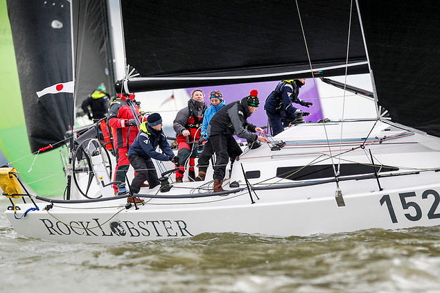 Rock Lobster is a J/121 owned by Nick Angel and sailed with a young crew