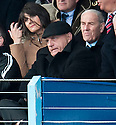 Forfar manager Dick Campbell watches from the stand in the first half.