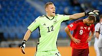 6th August 2020, Basel, Switzerland. UEFA National League football, Switzerland versus Germany; Keeper Bernd Leno ger