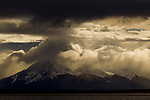 Mountains and storm clouds, Torres del Paine National Park, Patagonia, Chile