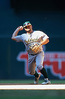 Oakland Athletics Nate Mondou (11) during an Instructional League game against the Arizona Diamondbacks on October 15, 2016 at Chase Field in Phoenix, Arizona.  (Mike Janes/Four Seam Images)