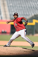 Arizona Diamondbacks pitcher Luis Ramirez (37) during an Instructional League game against the Oakland Athletics on October 10, 2014 at Chase Field in Phoenix, Arizona.  (Mike Janes/Four Seam Images)