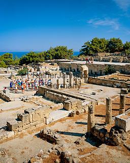 Griechenland, Dodekanes, Rhodos, Kamiros (oder Kameiros): eine der drei Staedte des antiken Rhodos | Greece, Dodekanes, Rhodes, Kamiros (or Kameiros): Ruins of Classical Greek City