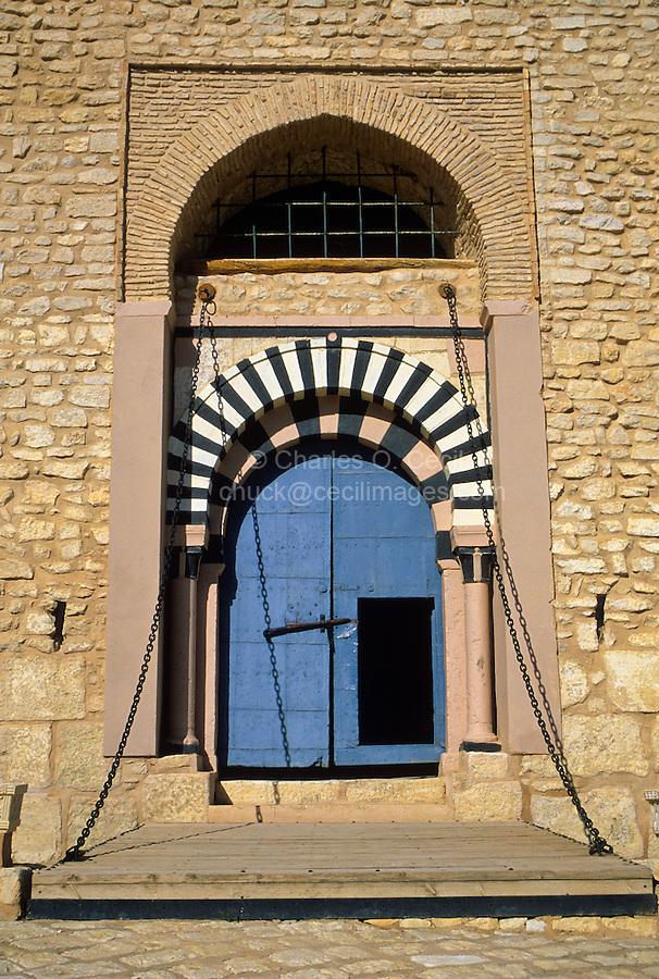 Tunisia, Le Kef.  Entryway into the Citadel Inner Courtyard.  Note the Drawbridge.