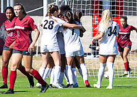 Georgia Bulldogs vs Arkansas Razorback Women's Soccer -   Georgia celebrates goal by Chloe Chapman (20) aginst Arkansas at Razorback Field, Fayetteville, AR on Sunday, October 27, 2019 - Special to NWA Democrat Gazette David Beach
