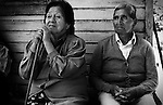Liquiñe Dam Project, Patagonia, Chile. Mr. and Mrs. Hueicha are living very close to the river in the small settlement of Reyehueico and are worried that their house and fields will be flooded as a consequence of the planned dams.