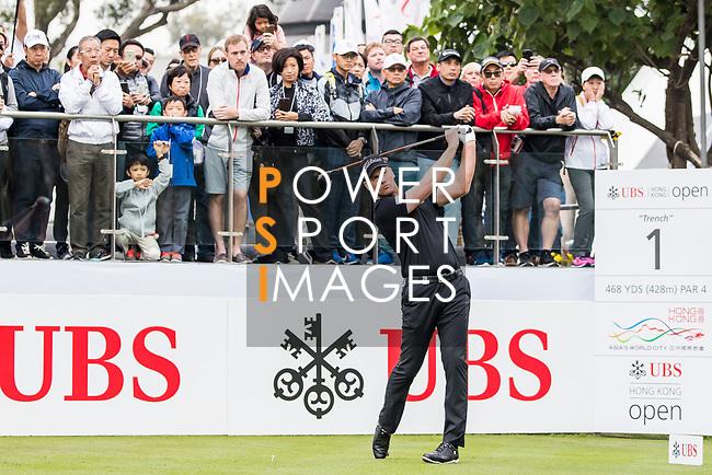 Robert Karlsson of Sweden tees off during the day three of UBS Hong Kong Open 2017 at the Hong Kong Golf Club on 25 November 2017, in Hong Kong, Hong Kong. Photo by Yu Chun Christopher Wong / Power Sport Images