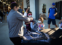 SAN JOSE, CA - SEPTEMBER 4: Audi gate giveaway before a game between Colorado Rapids and San Jose Earthquakes at PayPal Park on September 4, 2021 in San Jose, California.