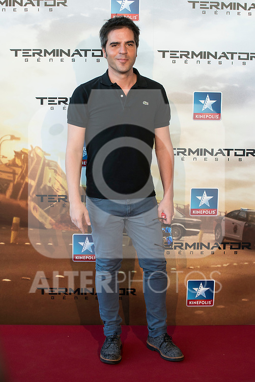Comedian Ernesto Sevilla attends to the premiere of Terminator Genesis at Kinepolis Cinema in Madrid, Spain. July 08, 2015.<br />  (ALTERPHOTOS/BorjaB.Hojas)