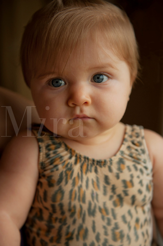 Portrait of a baby girl.