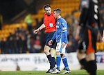 St Johnstone v Kilmarnock....09.01.16  Scottish Cup  McDiarmid Park, Perth<br /> Chris MIllar limps off holding his hamstring<br /> Picture by Graeme Hart.<br /> Copyright Perthshire Picture Agency<br /> Tel: 01738 623350  Mobile: 07990 594431