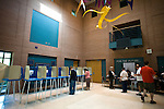 May 6, 2008. Durham, NC.. With the close North Carolina primary battle between Senators Hillary Clinton and Barack Obama, voters hit the polls to try and bring closure to this highly contested state and divide the delegates between the 2 candidates.. Voters at the NC School of Science and Math.