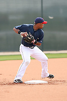 Luis Valbuena. Cleveland Indians spring training workouts at their complex in Goodyear, AZ - 03/06/2010.Photo by:  Bill Mitchell/Four Seam Images.