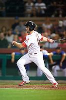 Scottsdale Scorpions Aaron Brown (23), of the Philadelphia Phillies organization, during a game against the Salt River Rafters on October 12, 2016 at Scottsdale Stadium in Scottsdale, Arizona.  Salt River defeated Scottsdale 6-4.  (Mike Janes/Four Seam Images)