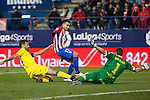 Atletico de Madrid's Angel Correa, UD Las Palmas Raul Lizoain  during the match of Copa del Rey between Atletico de Madrid and Las Palmas, at Vicente Calderon Stadium,  Madrid, Spain. January 10, 2017. (ALTERPHOTOS/Rodrigo Jimenez)