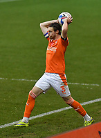 Blackpool's James Husband<br /> <br /> Photographer Dave Howarth/CameraSport<br /> <br /> EFL Trophy - Northern Section - Group G - Blackpool v Leeds United U21 - Wednesday 11th November 2020 - Bloomfield Road - Blackpool<br />  <br /> World Copyright © 2020 CameraSport. All rights reserved. 43 Linden Ave. Countesthorpe. Leicester. England. LE8 5PG - Tel: +44 (0) 116 277 4147 - admin@camerasport.com - www.camerasport.com