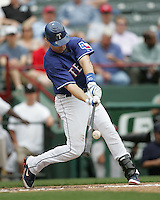 Texas Rangers SS Michael Young against the Seattle Mariners on May 14th, 2008 at Texas Rangers Ball Park in Arlington, Texas. Photo by Andrew Woolley .