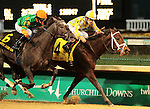 Uncaptured (4) and Miguel Mena defeat Frac Daddy (6) to win the 86th running of the Kentucky Jockey Club at Churchill Downs.  November 24, 2012. (( Special transmission of horses in the Top 25 for points for the 2013 KentuckyDerby ))